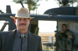 Bill Paxton with a moustache. Yesterday.