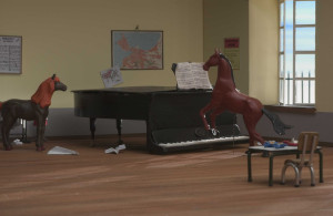 Nice piano. Convenient for even a horse to play.