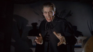 Dracula had an immediate advantage in the Tommy Cooper impressions contest.