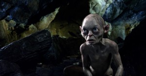 Gollum. Obsessed with the Precious, yet so easily loses it. Silly creature.