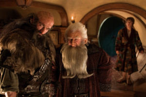 Bilbo didn't know what these men were doing in his home, but he didn't want to ask. Not while he was in his dressing gown.