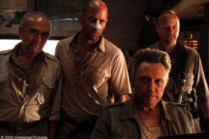 Christopher Walken and three generic bad guys. On a Wednesday.