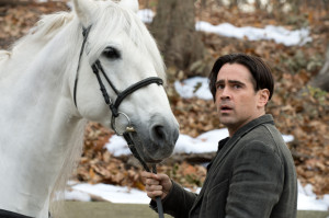 One floppy haired man and his horse.