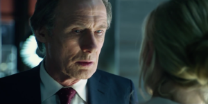 Bill Nighy. Clearly a villain. He's wearing a suit.