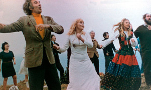 Christopher Lee led the islanders in a merry dance - sing cuckoo...