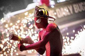 Spidey had a sideline career in the fire service.