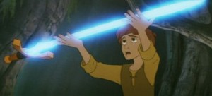 There's always a glowing magic sword in these fantasy stories. Always.