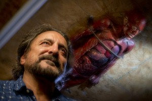 Tom Savini's always had at least one body stuck to his ceiling.