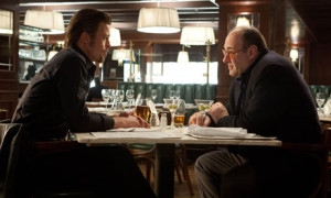 Awkward date night. Gandolfini is clearly not interested.