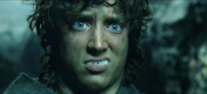 Frodo didn't take well to the food in Mordor.