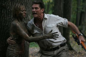 The Hoff didn't care if she was covered in mud: she was woman and she would be his.