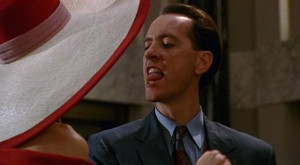 Richard E Grant's efforts at wooing the ladies were horribly inappropriate.