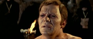This is William Shatner's real face. About as convincing as his serious acting.