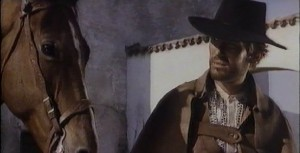 """Even the horse was dubious about his """"Django"""" qualifications."""