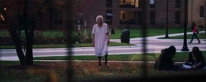Doddering old woman or supernatural menace? Either way, it's not good.