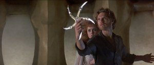 She gazed in wonder at his five pronged starfish weapon thing.