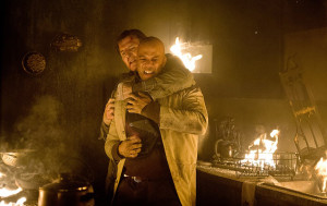 There's a time and a place for a hug, and trapped in a burning building with Liam Neeson isn't it.